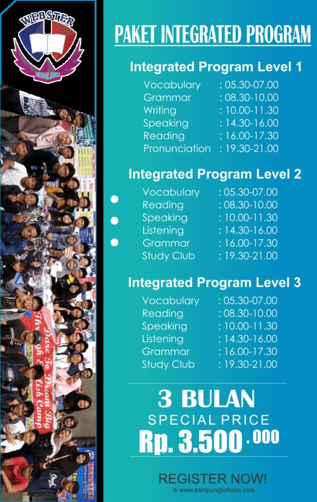 Paket Kursus Bahasa Inggris Pare Paket Integratif 3 Bulan